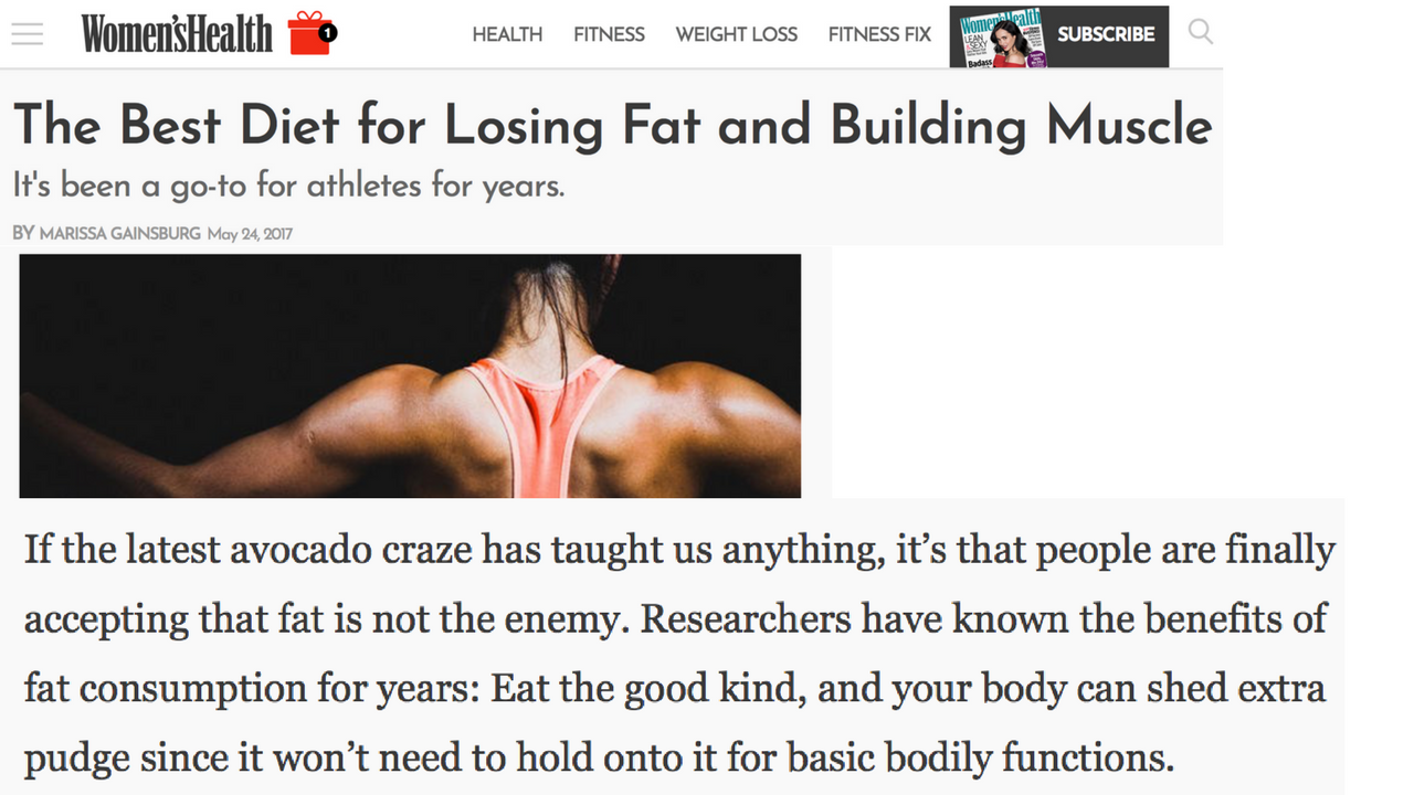 Women's Health: Keto - The Best Diet for Losing Fat and Building Muscle